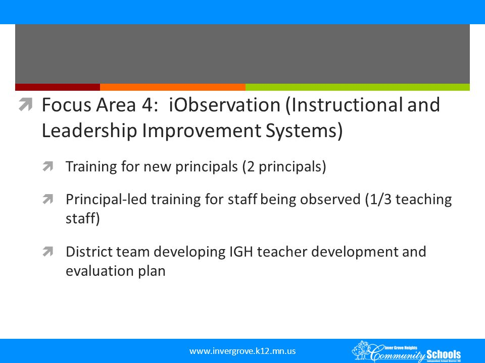 Focus Area 4: iObservation (Instructional and Leadership Improvement Systems)
