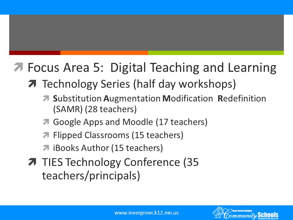 Focus Area 5: Digital Teaching and Learning