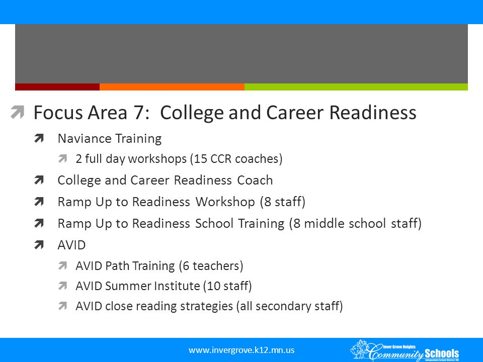 Focus Area 7: College and Career Readiness