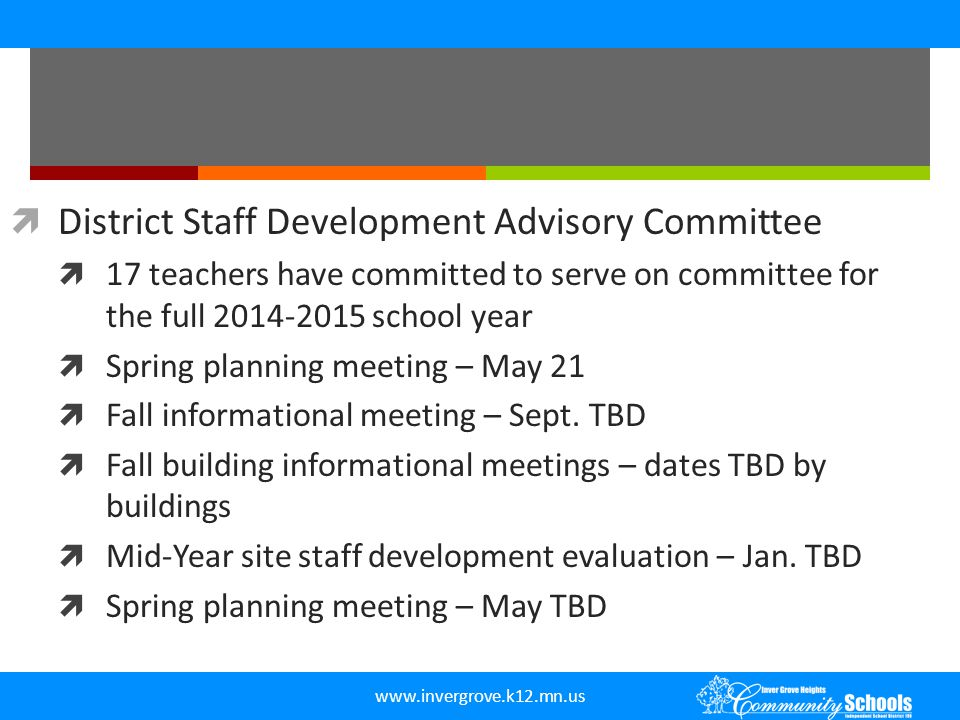 District Staff Development Advisory Committee