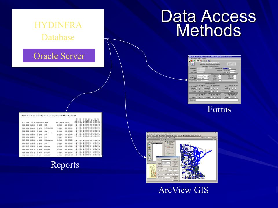 Data Access Methods HYDINFRA Database Oracle Server Forms Reports
