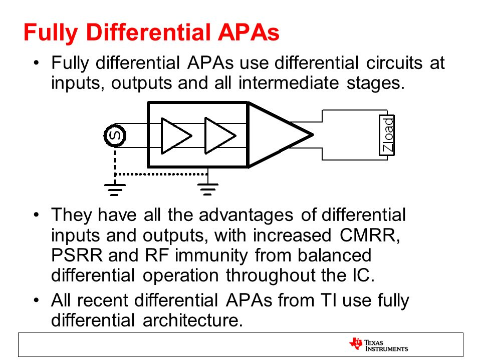Fully Differential APAs