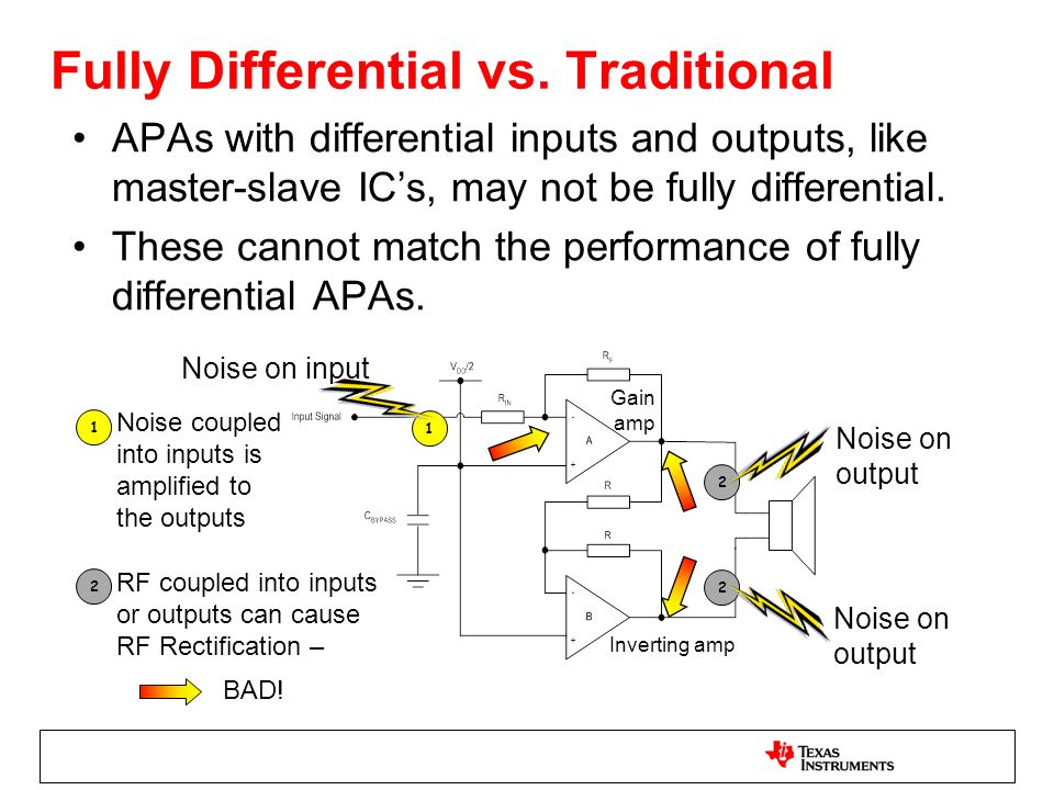 Fully Differential vs. Traditional