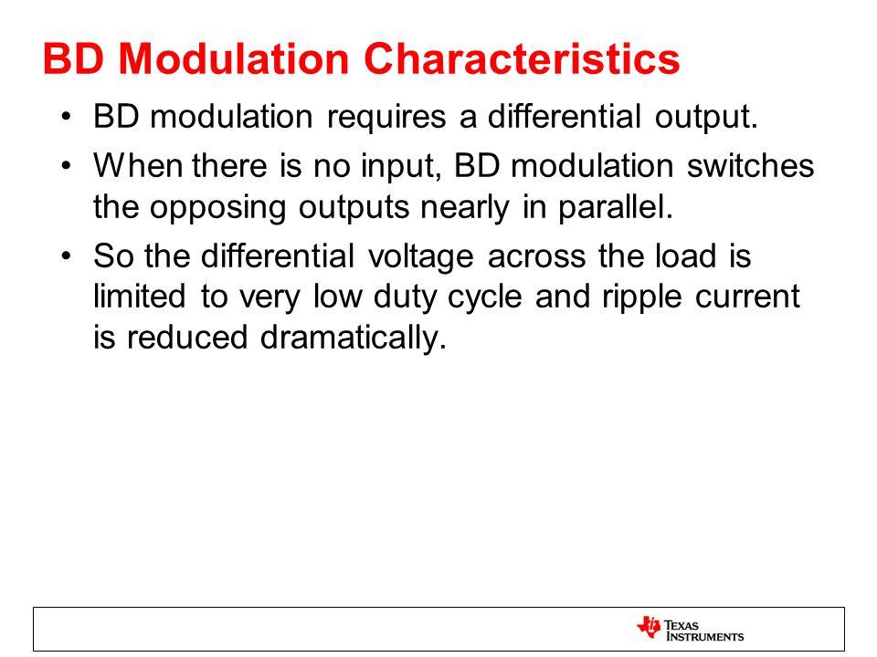 BD Modulation Characteristics