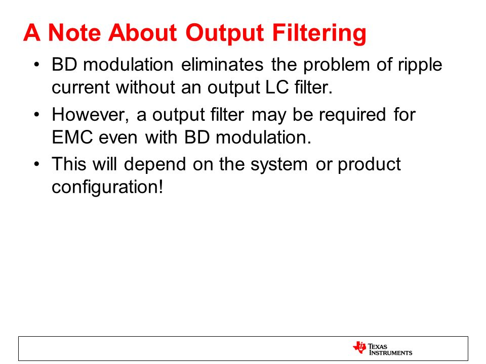 A Note About Output Filtering