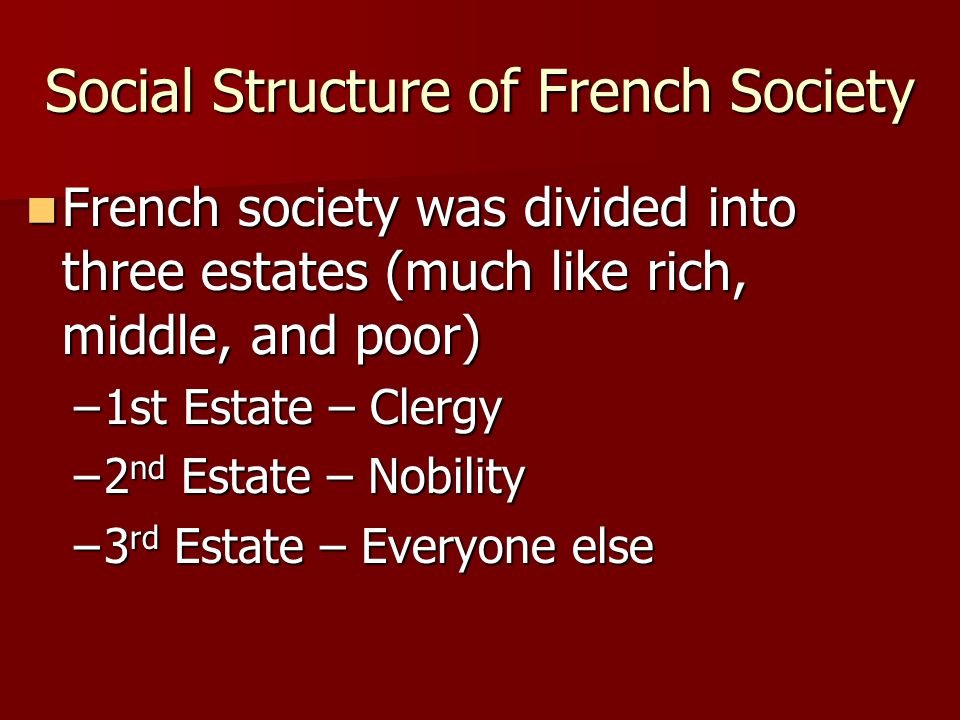 Social Structure of French Society