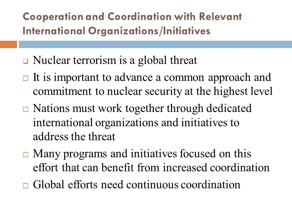 Nuclear terrorism is a global threat