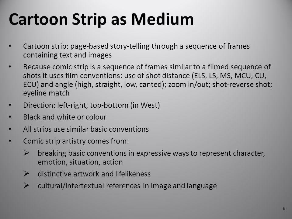 Cartoon Strip as Medium