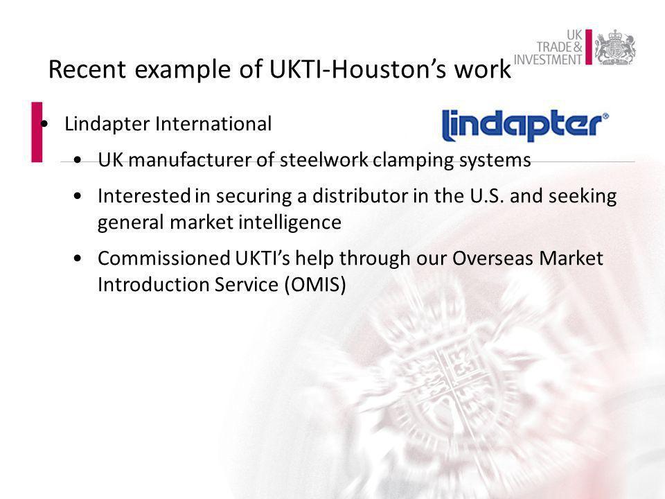 Recent example of UKTI-Houston's work