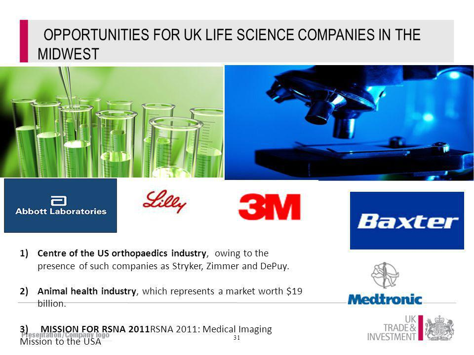 OPPORTUNITIES FOR UK LIFE SCIENCE COMPANIES IN THE MIDWEST