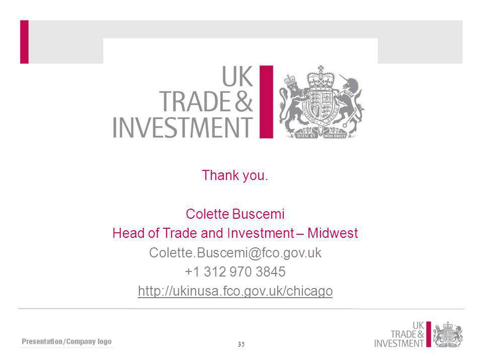 Head of Trade and Investment – Midwest