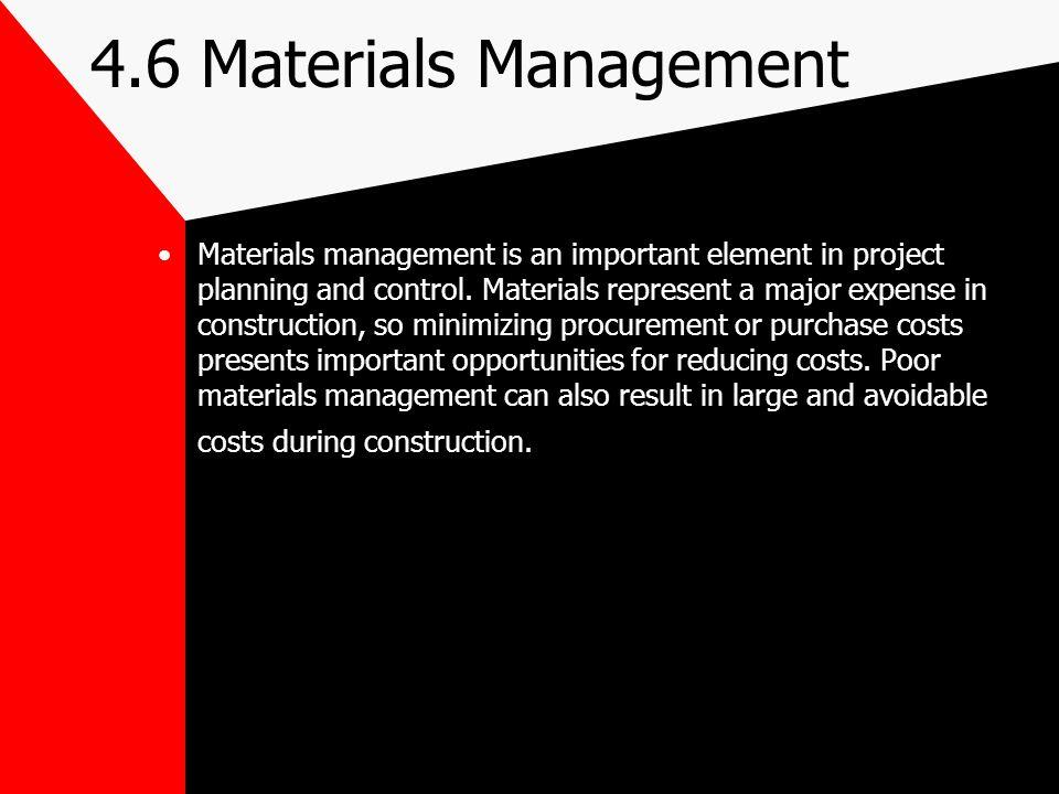 4.6 Materials Management