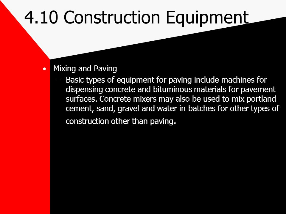 4.10 Construction Equipment