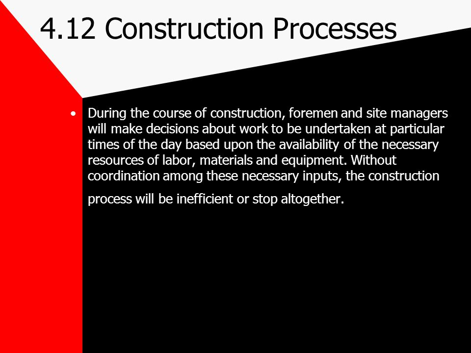 4.12 Construction Processes