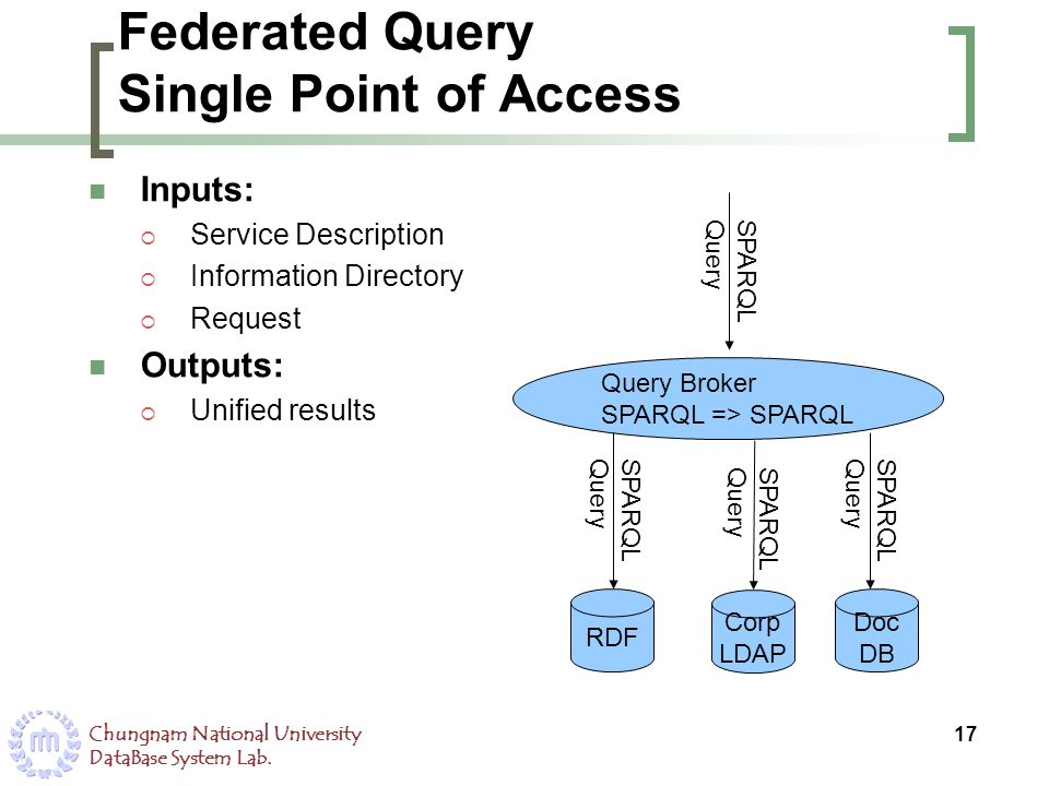 Federated Query Single Point of Access