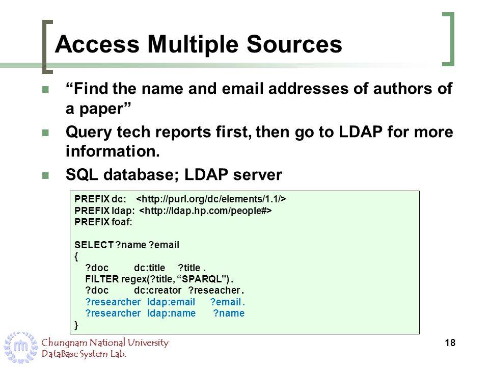Access Multiple Sources