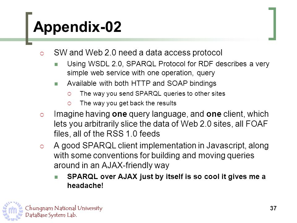 Appendix-02 SW and Web 2.0 need a data access protocol