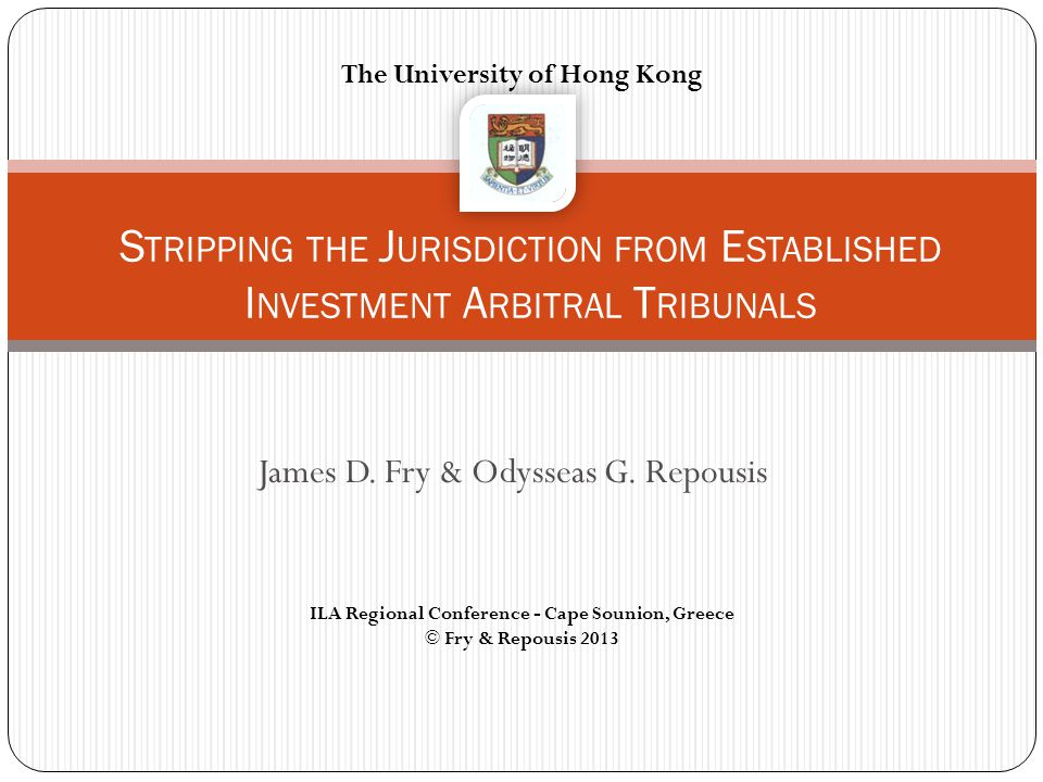 James D. Fry & Odysseas G. Repousis