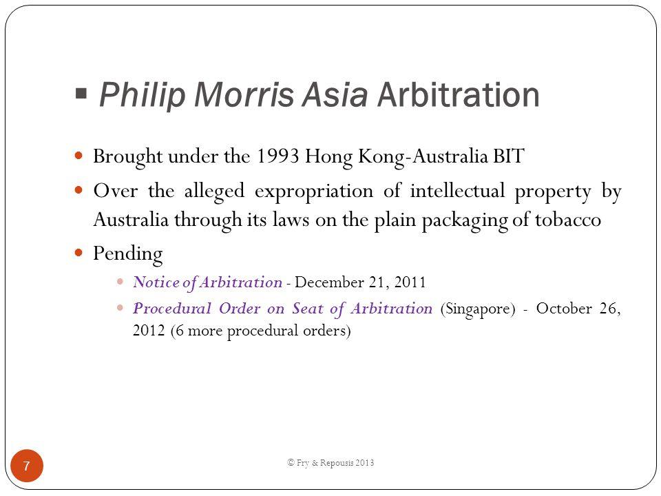 Philip Morris Asia Arbitration