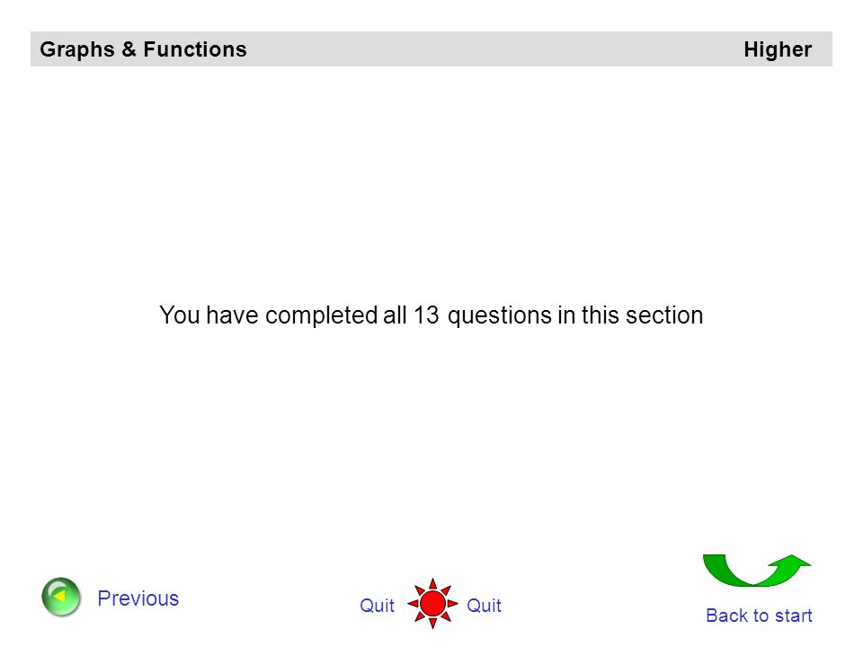 You have completed all 13 questions in this section