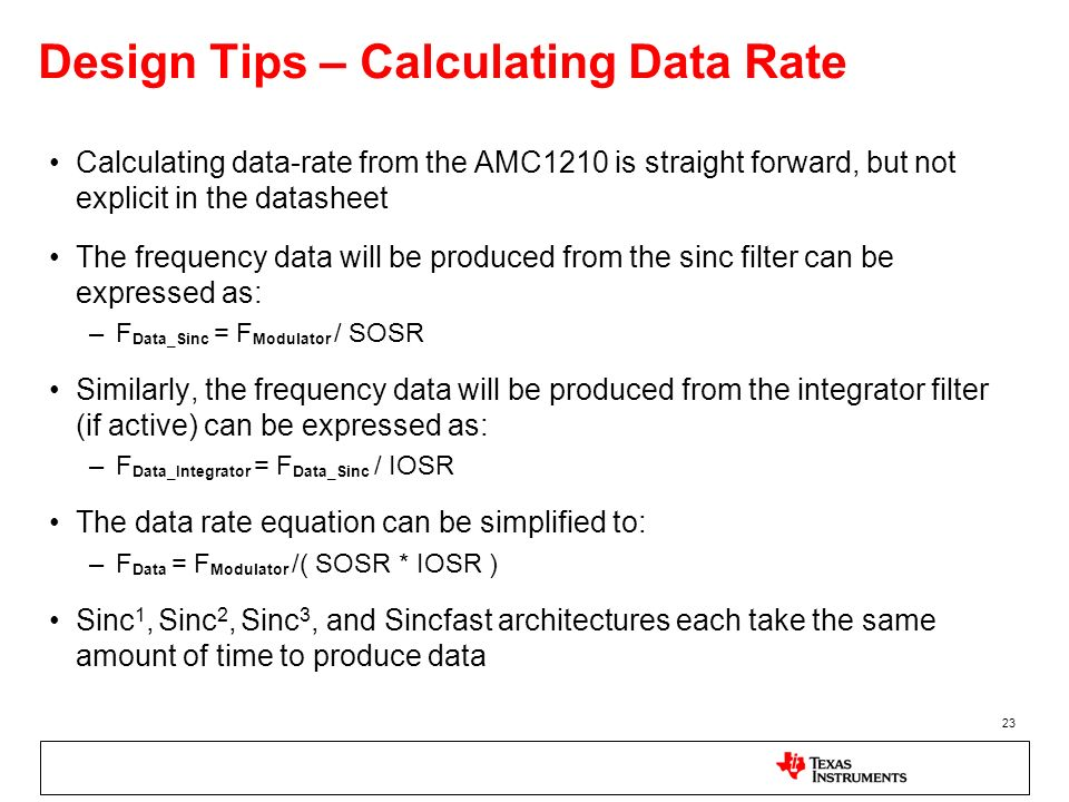Design Tips – Calculating Data Rate