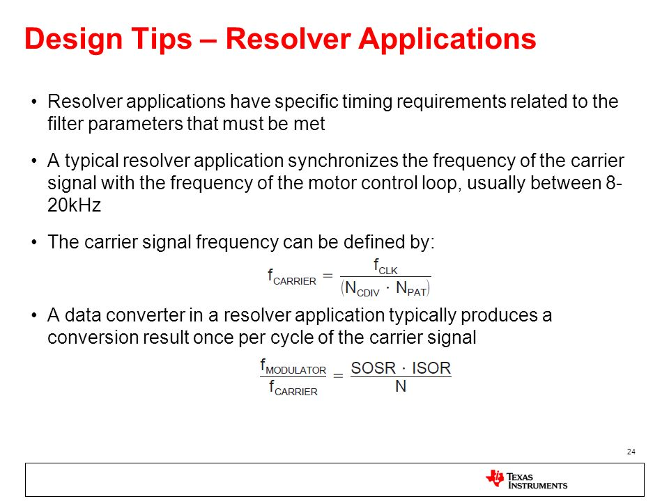 Design Tips – Resolver Applications