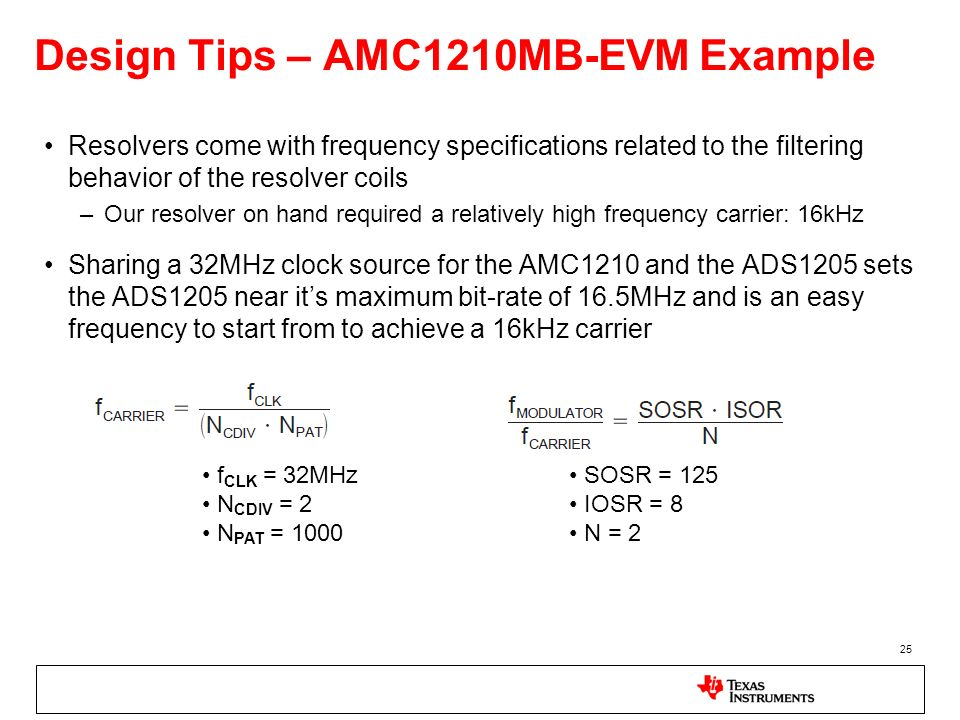 Design Tips – AMC1210MB-EVM Example