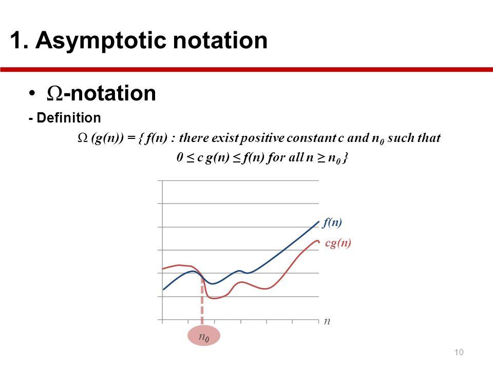 Ω-notation 1. Asymptotic notation - Definition