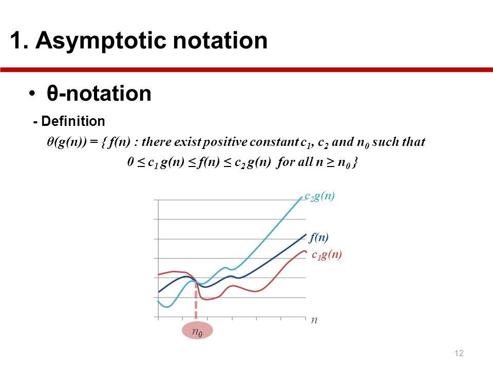 θ-notation - Definition 1. Asymptotic notation