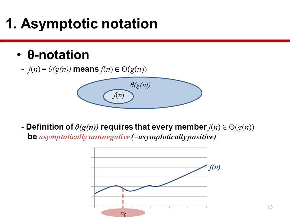 θ-notation 1. Asymptotic notation
