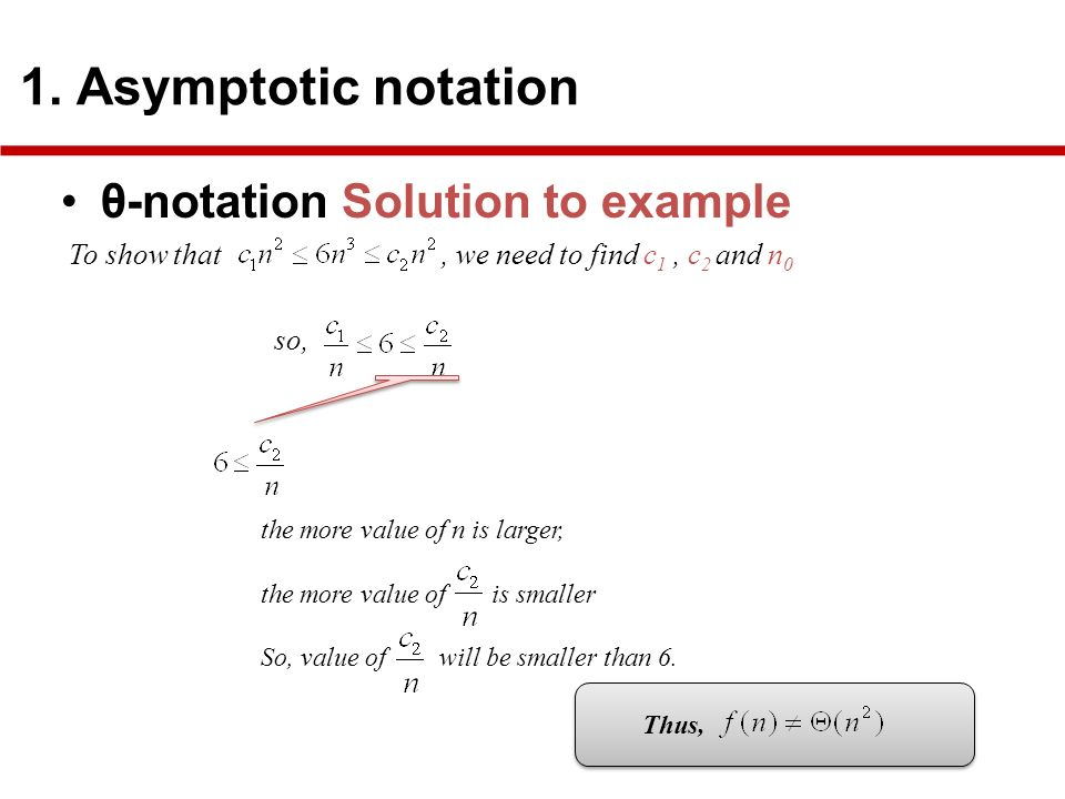 θ-notation Solution to example