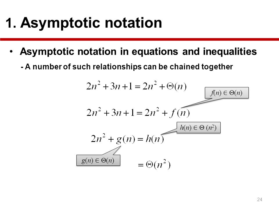 Asymptotic notation in equations and inequalities