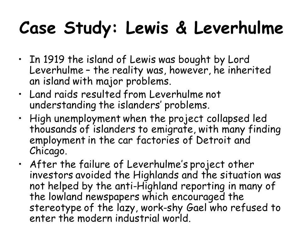 Case Study: Lewis & Leverhulme
