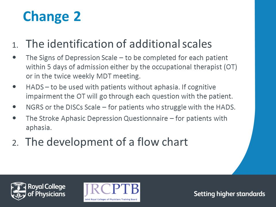 Change 2 The identification of additional scales