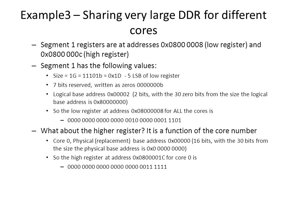 Example3 – Sharing very large DDR for different cores