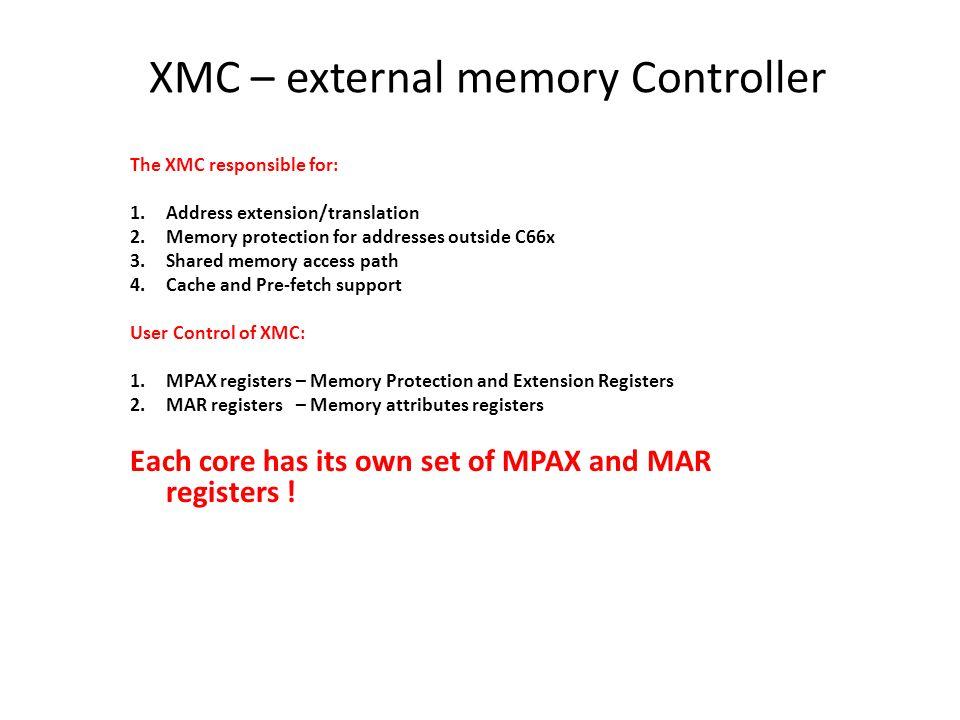 XMC – external memory Controller