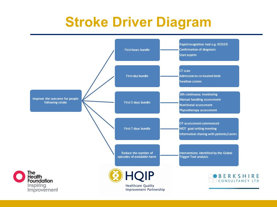 Stroke Driver Diagram Improve the outcome for people following stroke
