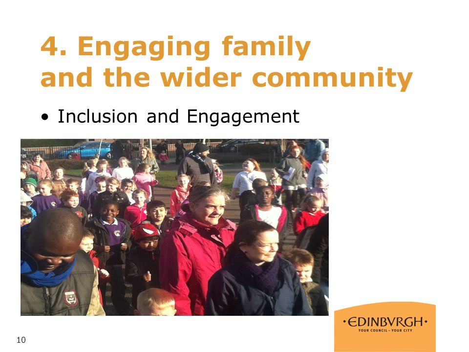 4. Engaging family and the wider community