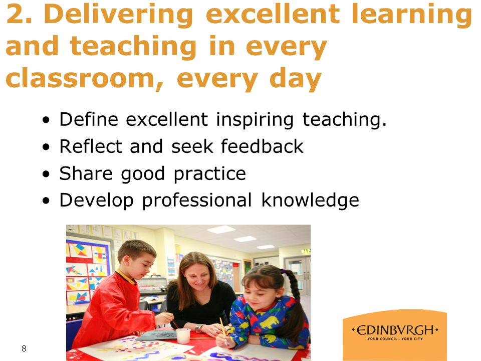2. Delivering excellent learning and teaching in every classroom, every day