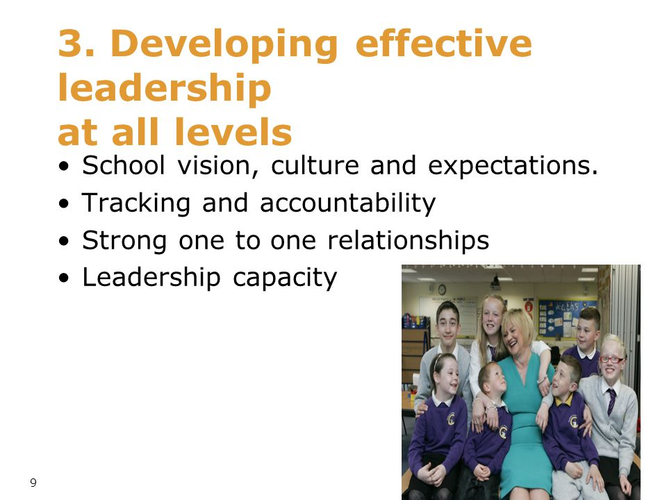 3. Developing effective leadership at all levels