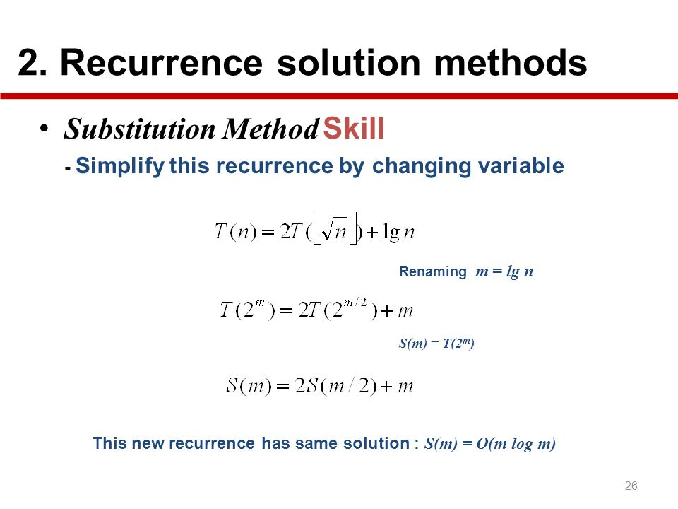 2. Recurrence solution methods