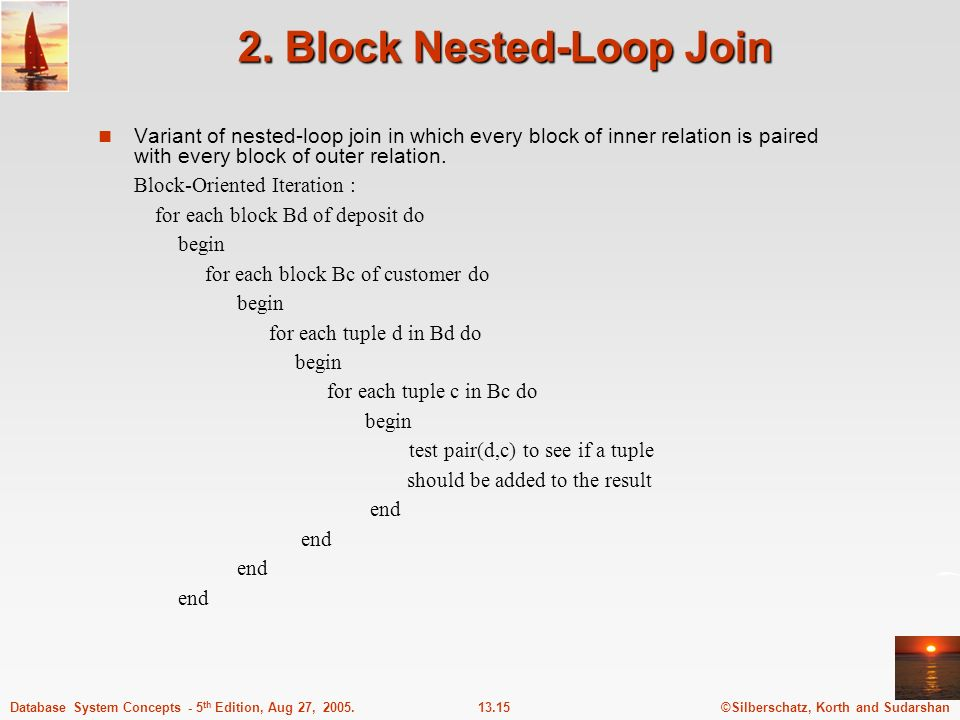 2. Block Nested-Loop Join
