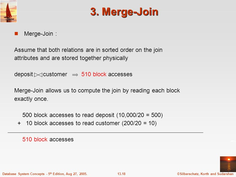 3. Merge-Join Merge-Join :