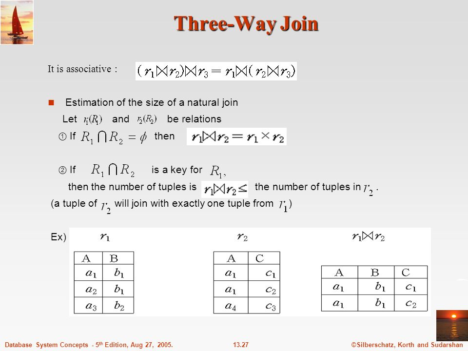 Three-Way Join It is associative :