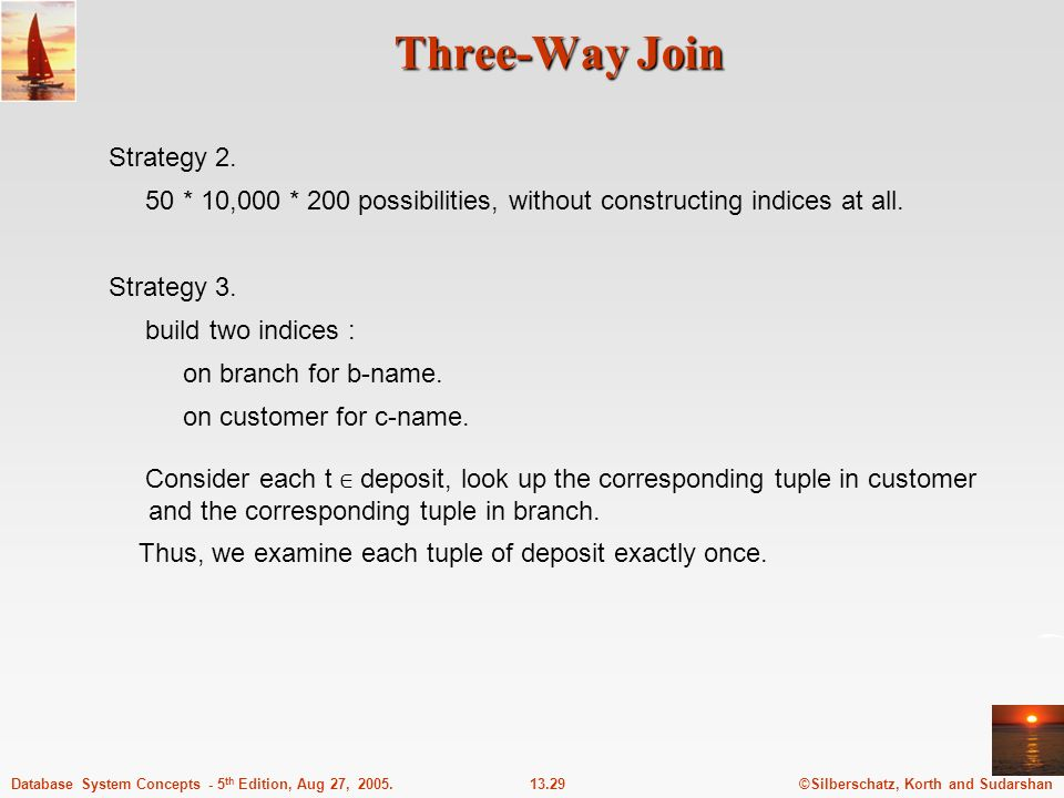 Three-Way Join Strategy 2.