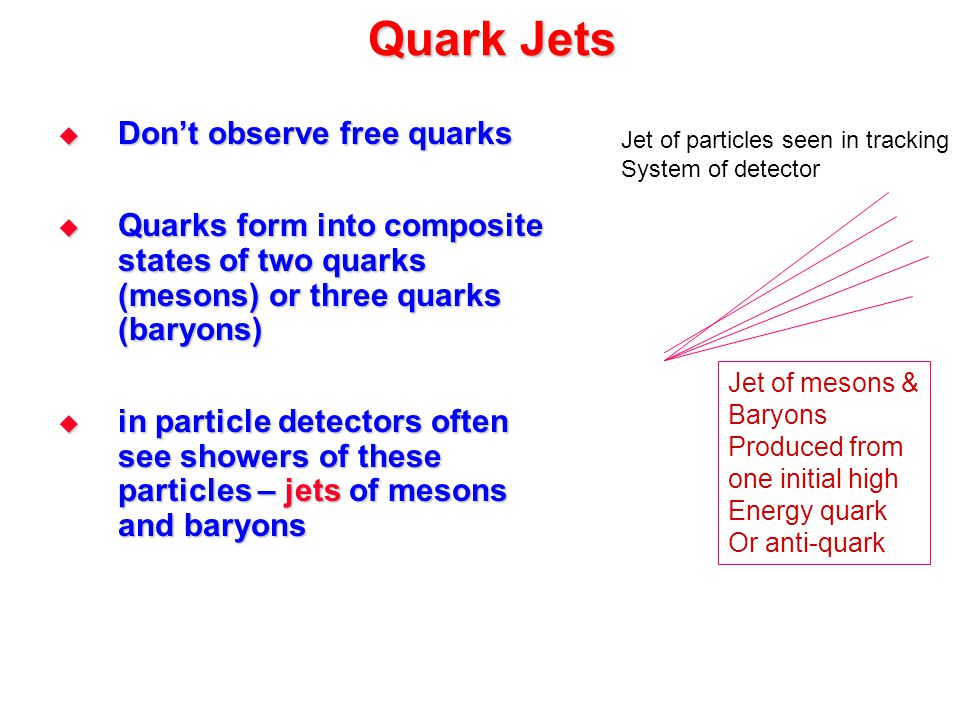 Quark Jets Don't observe free quarks