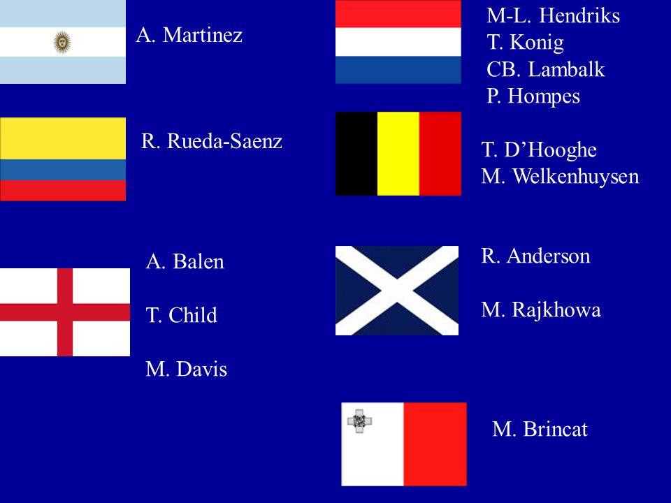 M-L. Hendriks T. Konig. CB. Lambalk. P. Hompes. A. Martinez. R. Rueda-Saenz. T. D'Hooghe. M. Welkenhuysen.