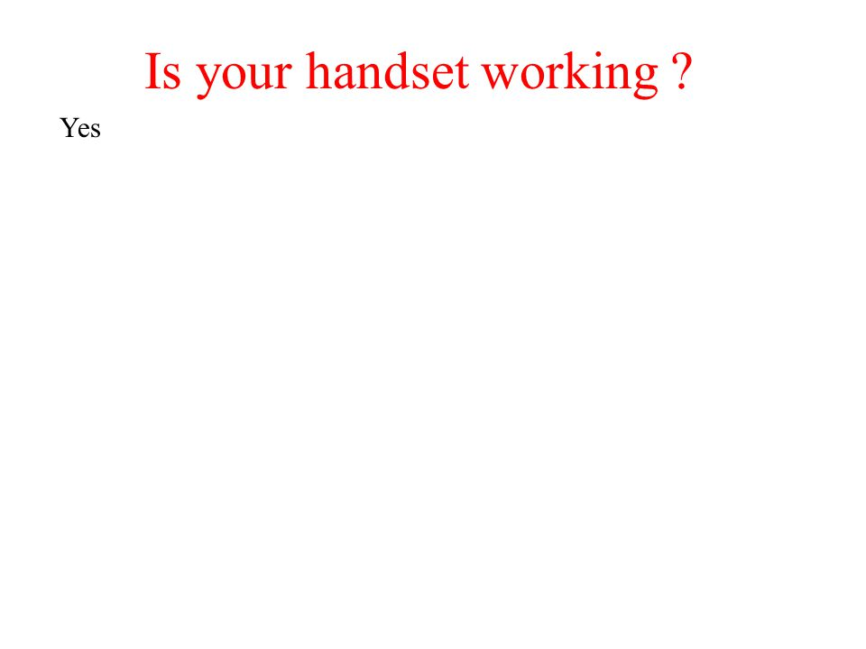 Is your handset working