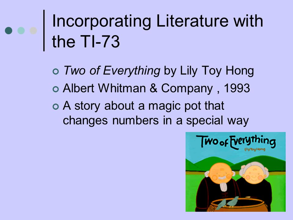Incorporating Literature with the TI-73