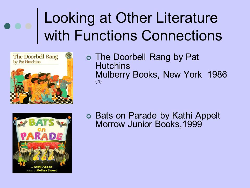 Looking at Other Literature with Functions Connections